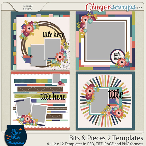 Bits and Pieces 2 Templates by Miss Fish