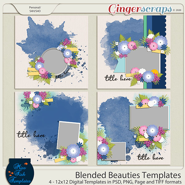 Blended Beauties Templates by Miss Fish
