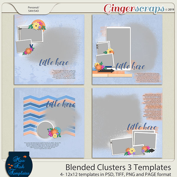 Blended Clusters 3 Templates by Miss Fish