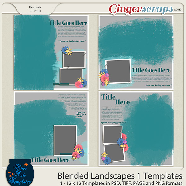 Blended Landscapes 1 Templates by Miss Fish