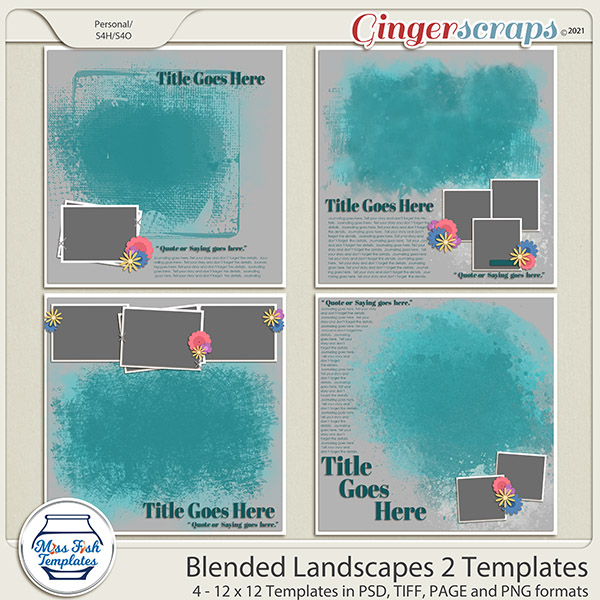 Blended Landscapes 2 Templates by Miss Fish