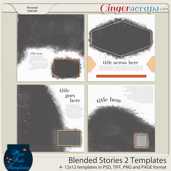 Blended Stories 2 Templates by Miss Fish