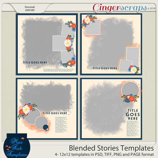 Blended Stories Templates by Miss Fish