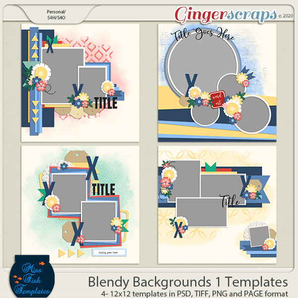 Blendy Backgrounds 1 Templates by Miss Fish