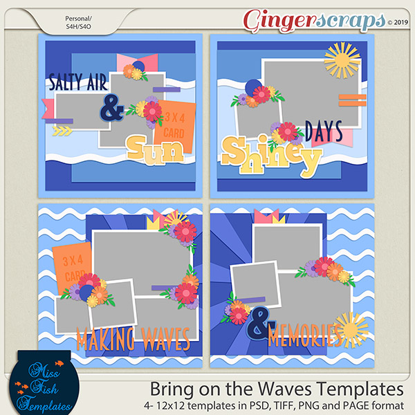 Bring on the Waves Templates by Miss Fish