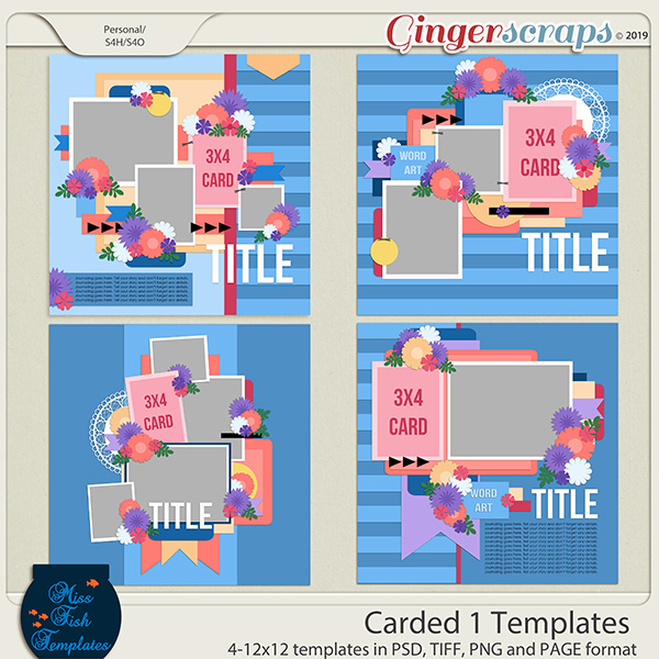 Carded 1 Templates by Miss Fish