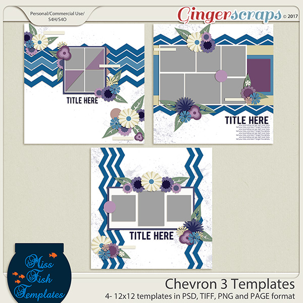Chevron 3 Templates by Miss Fish
