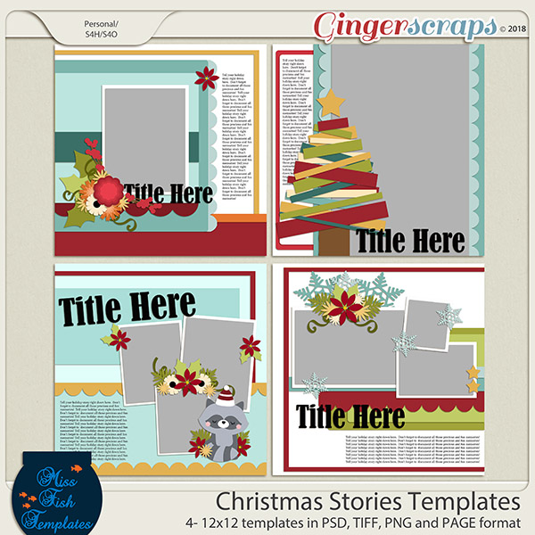 Christmas Stories Templates by Miss Fish