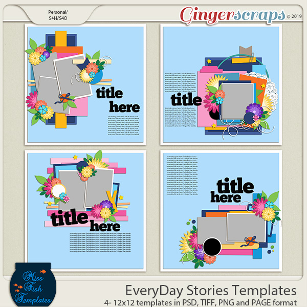 EveryDay Stories Templates by Miss Fish