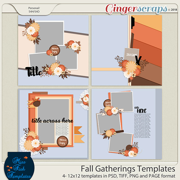 Fall Gathering Templates by Miss Fish