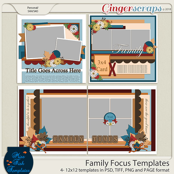 Family Focus Templates by Miss Fish