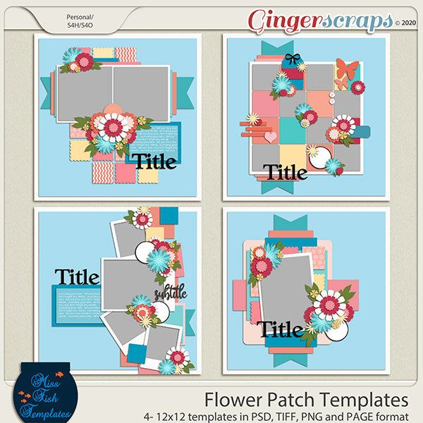Flower Patch Templates by Miss Fish