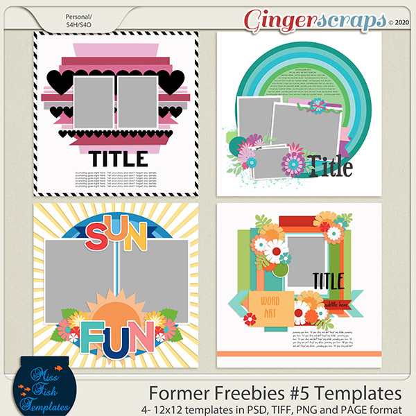 Former Freebies #5 by Miss Fish Templates