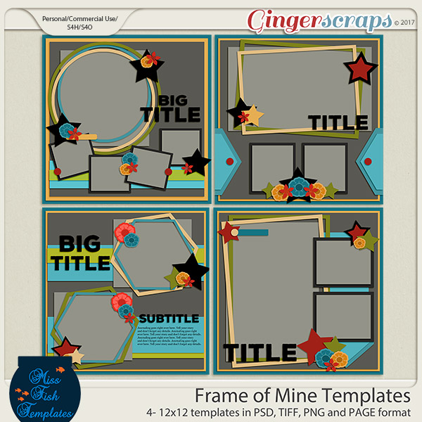 Frame of Mine Templates by Miss Fish