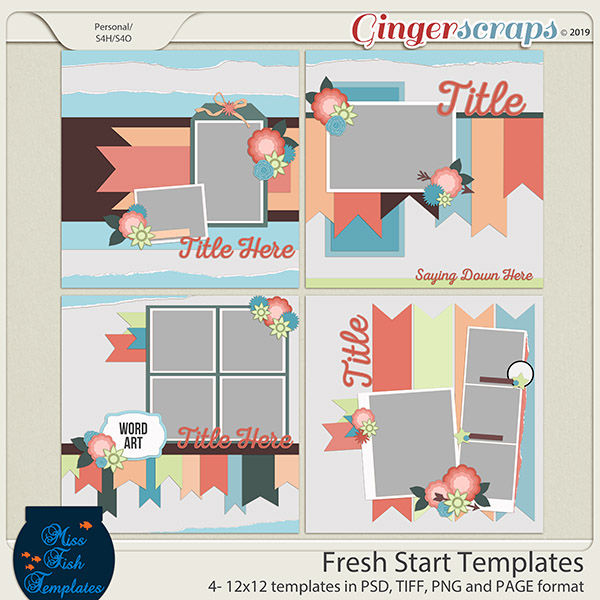 Fresh Start Templates by Miss Fish