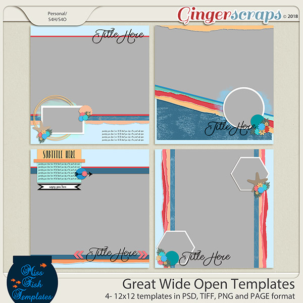 Great Wide Open Templates by Miss Fish