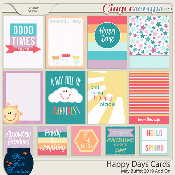Happy Day Cards by Miss Fish