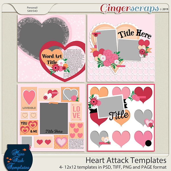 Heart Attack Templates by Miss Fish