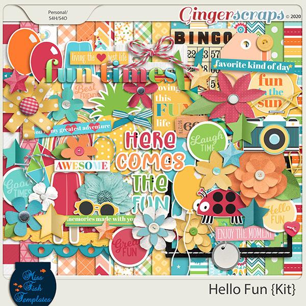Hello Fun Digital Scrapbook Kit by Miss Fish