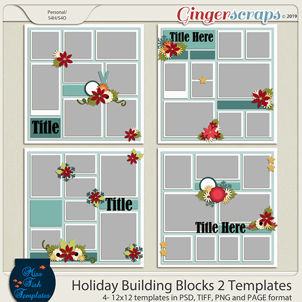 Holiday Building Blocks 2 Templates by Miss Fish