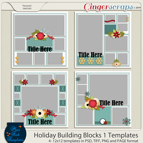Holiday Building Blocks 1 Templates by Miss Fish