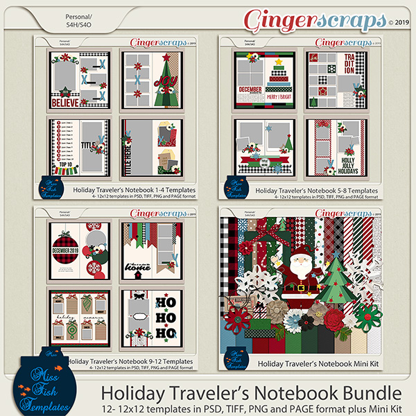 Travelers Notebook Holiday Bundle by Miss Fish
