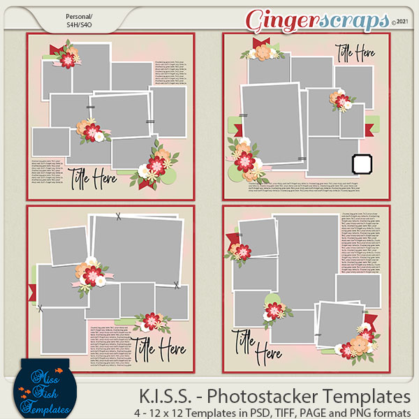 KISS - Photostackers Templates by Miss Fish