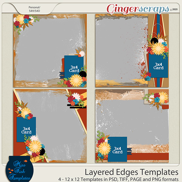 Layered Edges Templates by Miss Fish