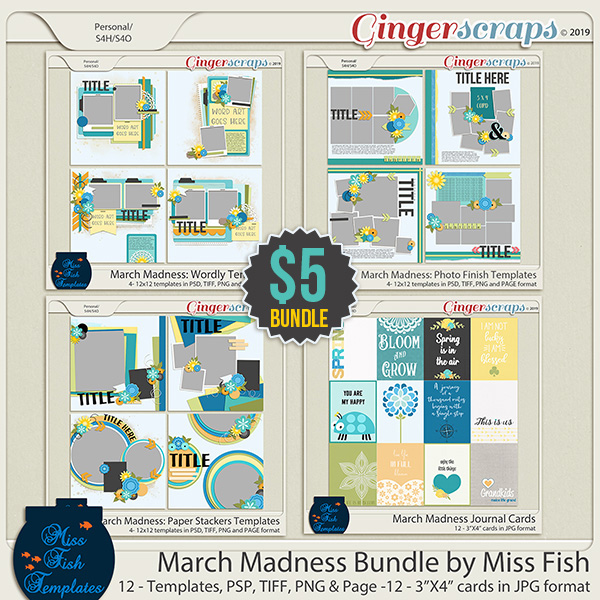 March Madness 2019 Bundle by Miss Fish