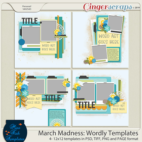 March Madness 2019 Wordly Templates by Miss Fish