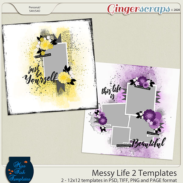 Messy Life 2 Templates by Miss Fish