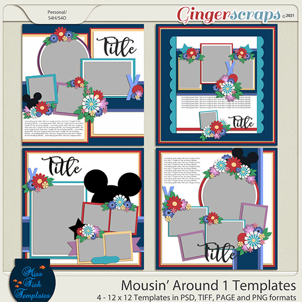 Mousin' Around 1 Templates by Miss Fish