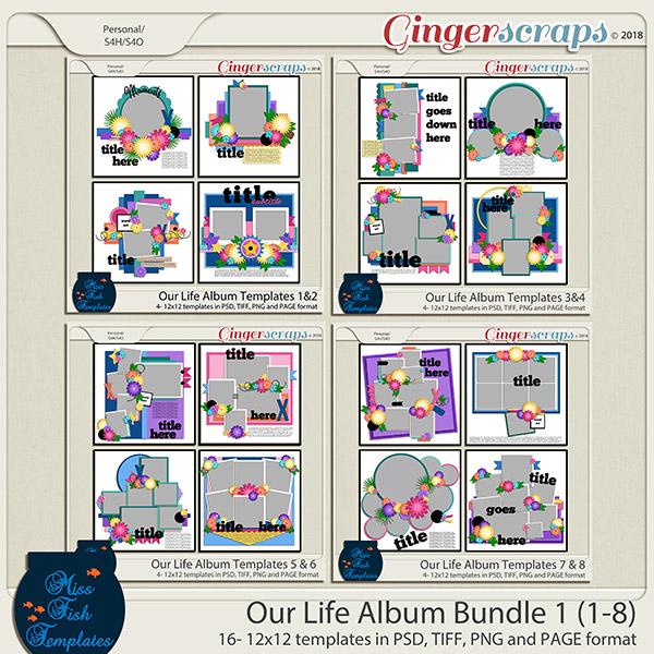 Our Life Templates Album Bundle 1 by Miss Fish