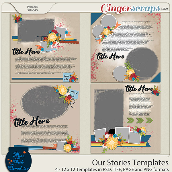 Our Stories Templates by Miss Fish
