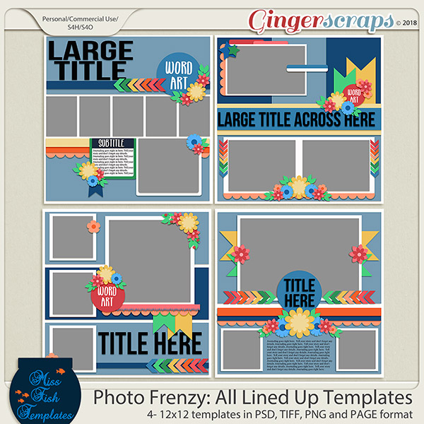 Photo Frenzy: All Lined Up Templates by Miss Fish