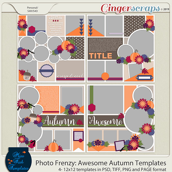 Photo Frenzy: Awesome Autumn Templates by Miss Fish
