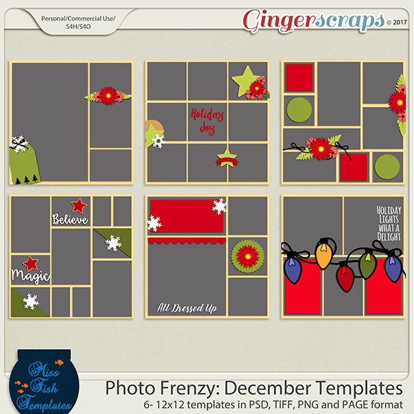 Photo Frenzy: December Templates by Miss Fish