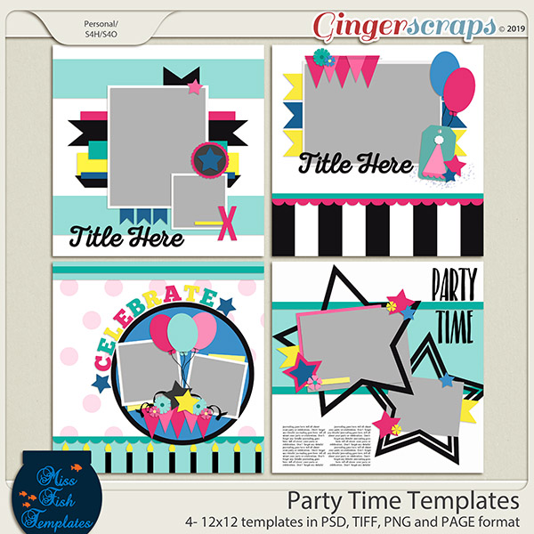 Party Time Templates by Miss Fish