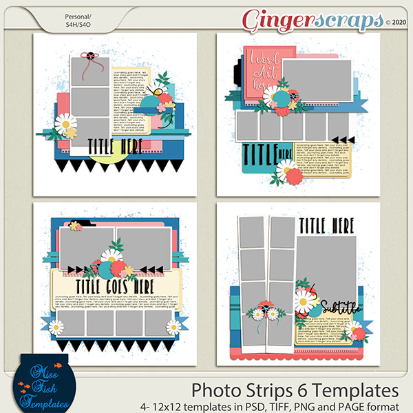 Photo Strips 6 Templates by Miss Fish