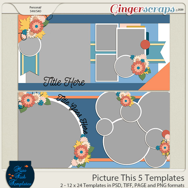 Picture This 5 Templates by Miss Fish