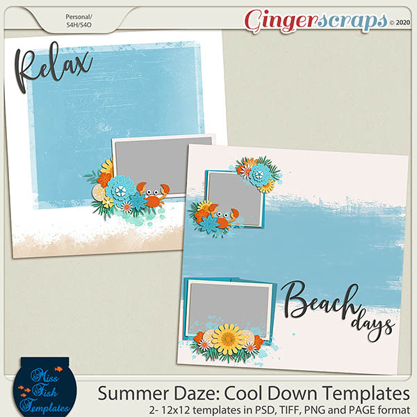 Summer Daze: Cool Down Templates by Miss Fish