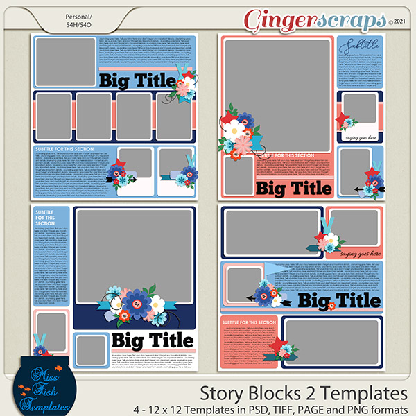 Story Blocks 2 Templates by Miss Fish