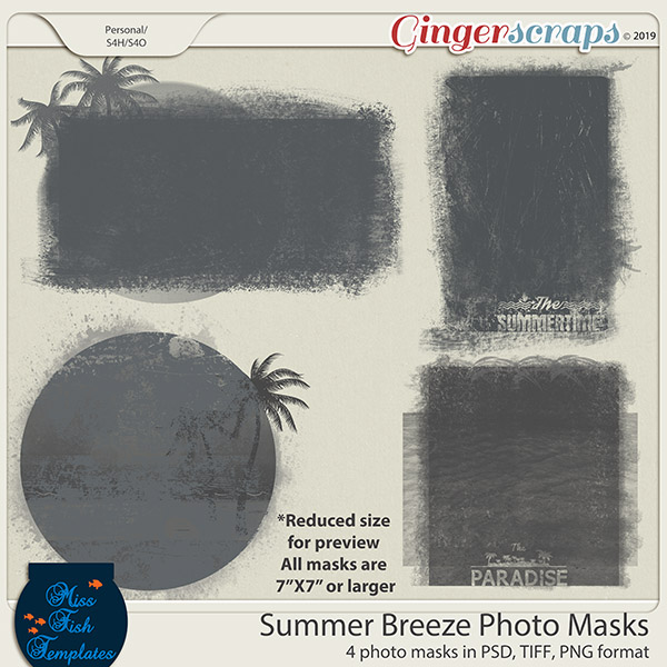 Summer Breeze Photo Masks by Miss Fish