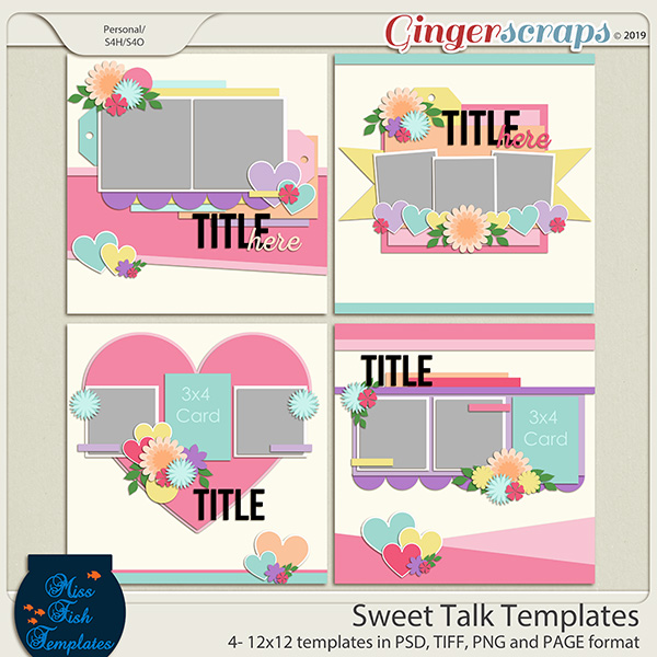 Sweet Talk Templates by Miss Fish