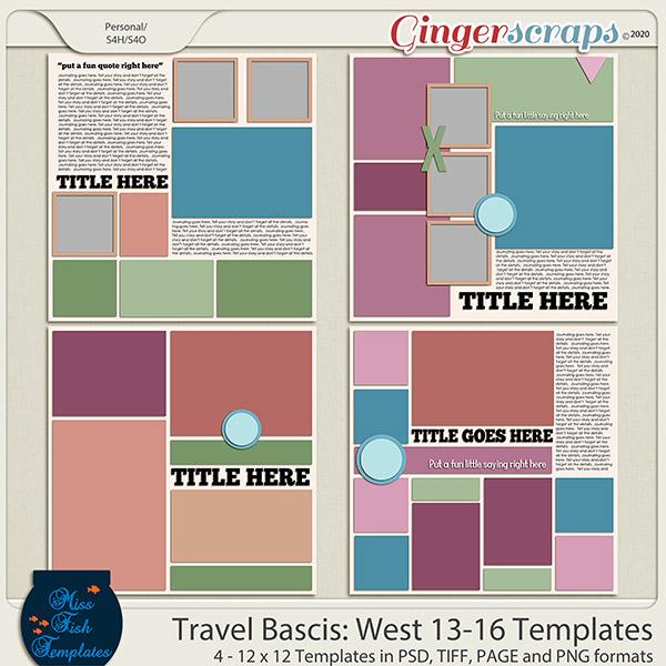 Travel Basics Album: West 13-16 Templates by Miss Fish
