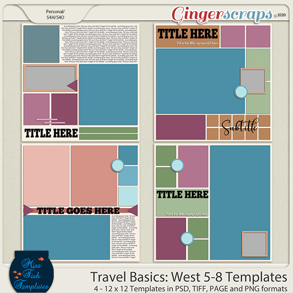 Travel Basics Album: West 5-8 Templates by Miss Fish
