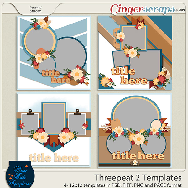 Threepeat 2 Templates by Miss Fish,