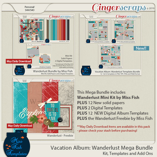 Wanderlust Mega Bundle by Miss Fish