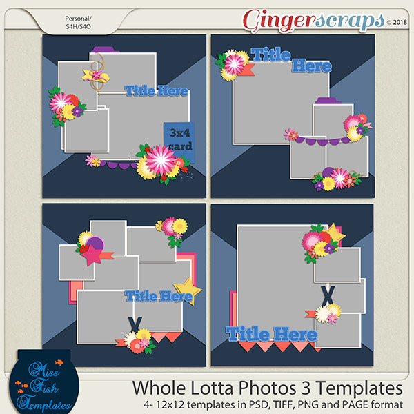 Whole Lotta Photos 3 Templates by Miss Fish