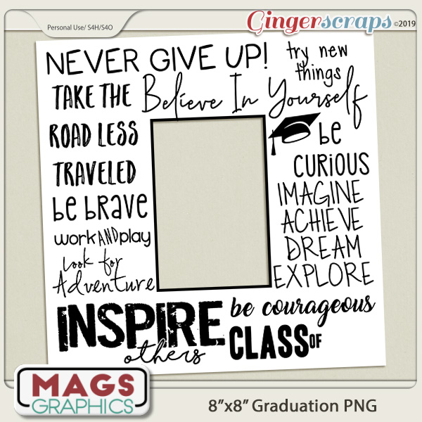 8x8 Print-Ready Graduation Frame by MagsGraphics